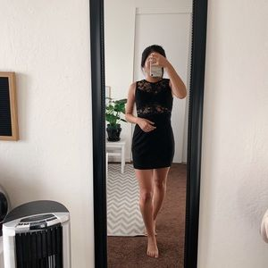 Forever 21 lace black backless bodycon